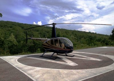 Helicopters can land almost anywhere; that's good and bad news.